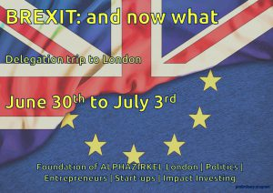 """Delegationsreise nach London: """"Brexit - and now what?"""""""