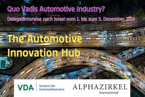 "Delegationsreise nach Israel: ""Quo Vadis Automotive Industry?"""